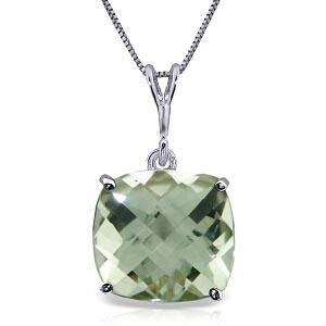 3.6 CTW 14K Solid White Gold Necklace Natural Checkerbo