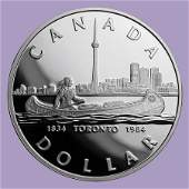 1984 Canada Silver Dollar Proof (150th Anniversary of T