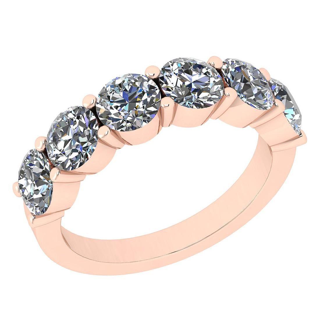 Certified 2.50 Ctw SI2/I1 Diamond 14K Rose Gold Eternit