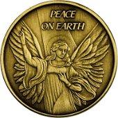 Christmas 2014 Bronze Coin BX-3 Peace On Earth Angel