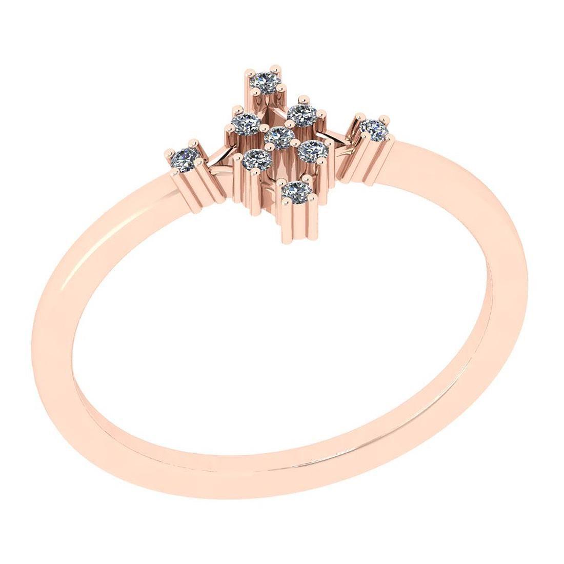 Certified 0.15 Ctw Diamond SI2/I1 14K Rose Gold Entity