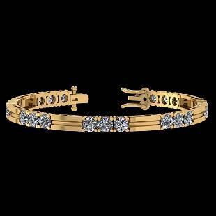Certified 2.50 Ctw Diamond SI2/I1 Tennis Bracelet 14K G