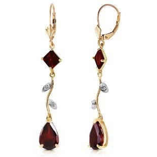3.97 Carat 14K Solid Gold Chandelier Earrings Diamond G