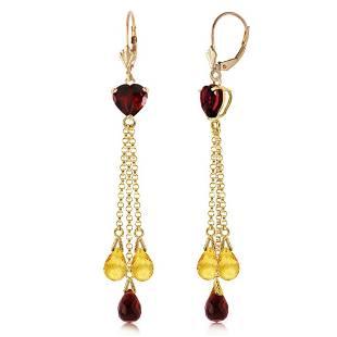9.5 CTW 14K Solid Gold Chandelier Earrings Briolette Ga