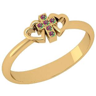 Certified 0.06 Ctw Mystic Topaz 10K Yellow Gold Holy Cr