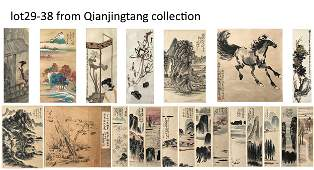 FROM QIAN JINGTANG COLLECTION CHINESE SCROLL PAINTINGS