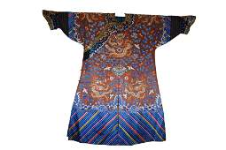 CHINESE EMBROIDERY DRAGON IMPERIAL ROBE