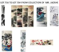 LOT75A TO 75H FROM PERVIOUS LAOSHE COLLECTION