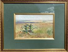 NO RESERVED Oil painting Field M.V. Naumenko