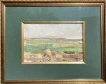 NO RESERVED Oil painting Field landscape M.V. Naumenko