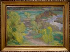 GAUSH ALEXANDER FEDOROVICH Oil painting Spring