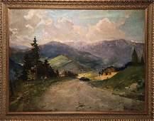 KHOLOMENYUK IVAN ALEXANDROVICH Oil painting Road to the