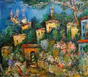 Abstract Oil painting City Karelin Andrey Osipovich