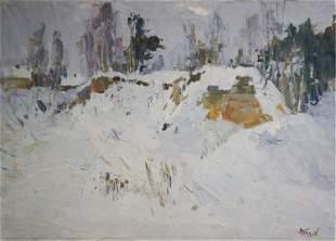 Oil painting Snowdrift Tkachenko M.S.