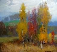 Oil painting Autumn landscape Mynka Alexander