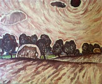 NO RESERVE Oil painting Sun Shelyuto Alexander