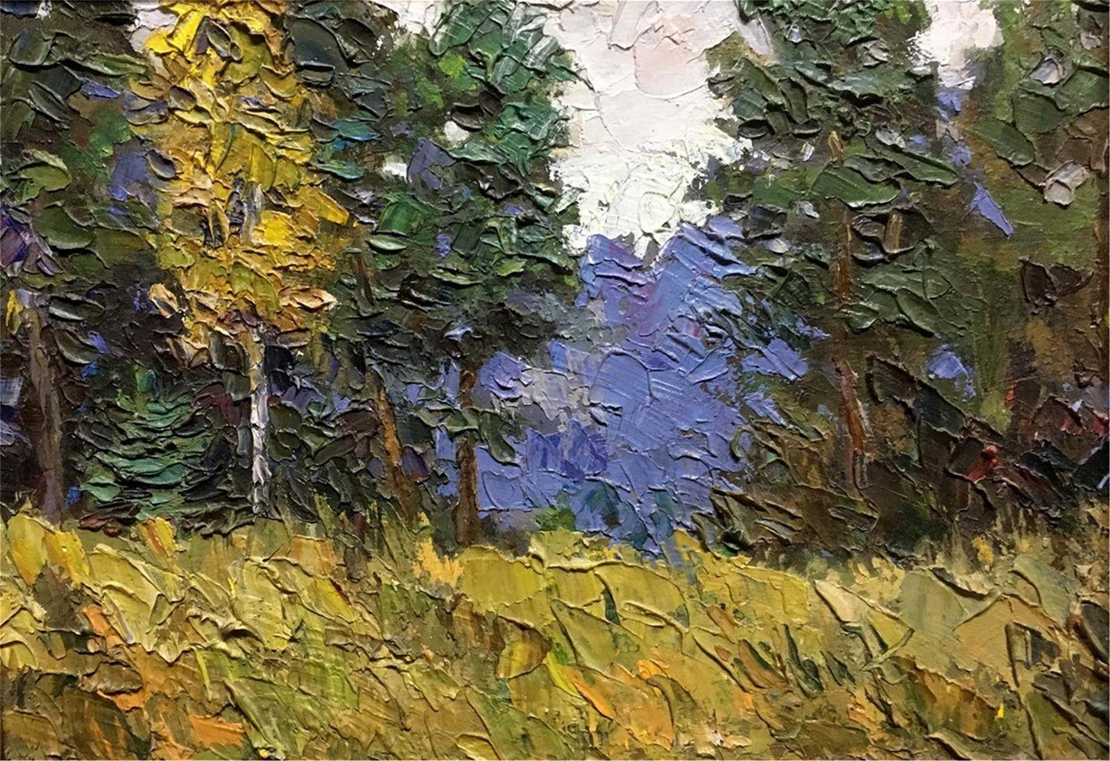 NO RESERVE Autumn morning oil painting Pivtorak Sergey