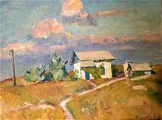 NO RESERVE Oil painting Clear day Konstantin
