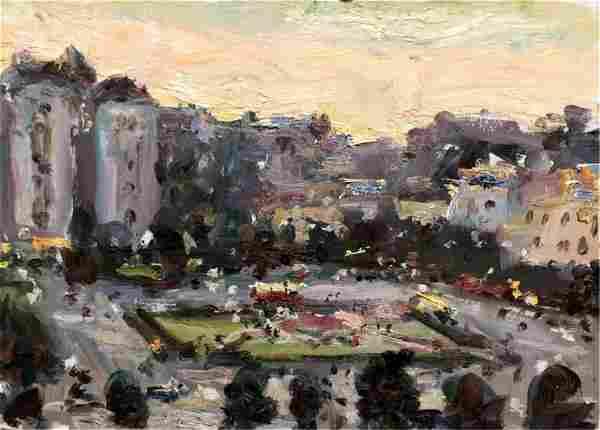 NO RESERVE OIl painting City center Konstantin Bokov