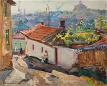 NO RESERVE Oil painting City Kobylenkov Mikhail