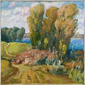 NO RESERVED Oil painting Road to the forest Mynka