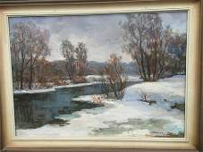 NO RESERVED Oil painting Early spring Pivtorak Sergey