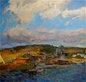 ZAKHAROV FEDOR ZAKHAROVICH Oil painting Summer evening