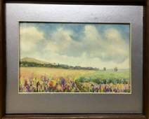 NO RESERVED Watercolor painting Fields Tsyupka Ivan