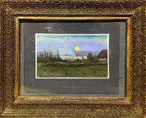 NO RESERVED Oil painting Evening landscape Tsyupka Ivan