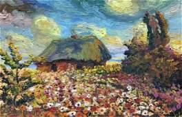 NO RESERVED Oil painting Garden landscape Alexander