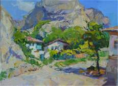 NO RESERVED Oil painting Among the mountains Tepeta