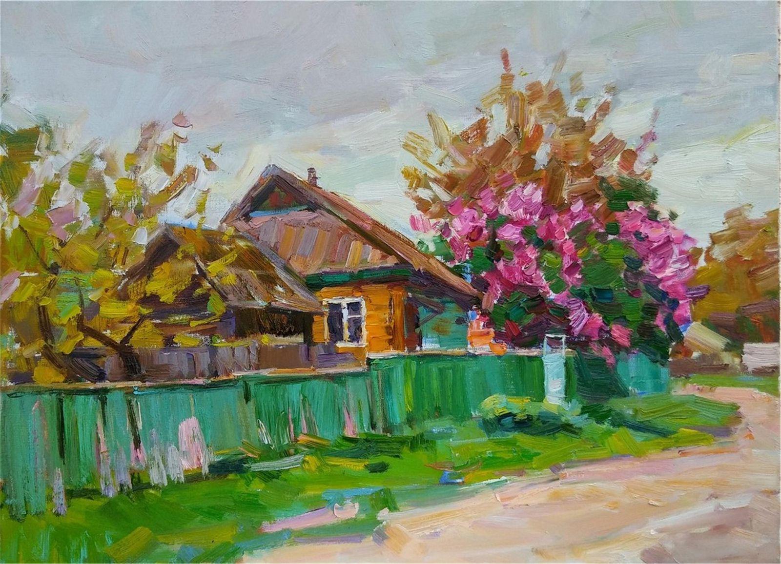 NO RESERVED Oil painting Rural street Tepeta Miacheslav