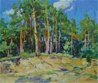 NO RESERVED Oil painting Pine trees Tepeta Miacheslav