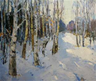 Alishevich Oil painting Winter landscape