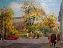 Rudenko Vladimir Mikhailovich Oil painting City center