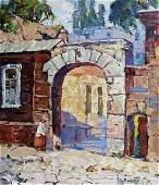 NO RESERVE Oil painting City of Mariupol Kalenyuk Alex