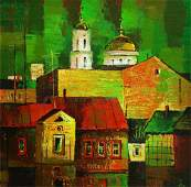 NO RESERVE Oil painting Old city Egor Ktpatunov