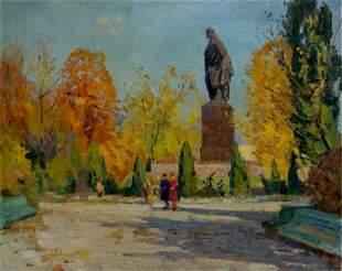 Oil painting In the park Kogan-Shats Matvey Borisovich