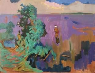 Abstract oil painting Mirage Kiyansky Yuri Mikhailovich