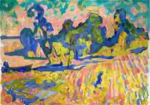 Abstract oil painting Landscape of fields Kiyansky Yuri