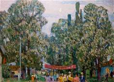Oil painting After the fair Petro Dorofiyovych Slota