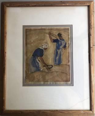 1920S WOHLGEMUTH LISSNER ART PRINT ON PAPER