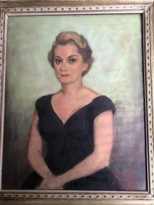 19TH CENTURY PASTEL ON PAPER LADY PORTRAIT