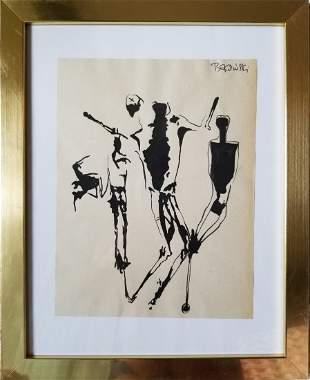 ZDZISLAW BEKSINSKI POLISH 1929-2005 INK ON PAPER