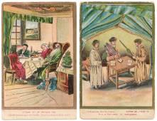 6 Postcards Depicting Jewish Life - Monsohn, Jerusalem
