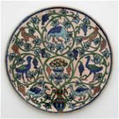 Armenian Pottery Birds Plate - Jerusalem, Palestine