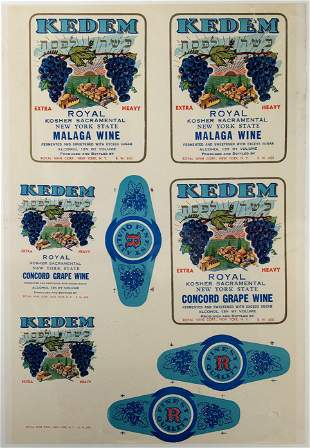 Kedem Wine Labels - Advertising Poster - New York