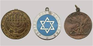 Collection of 3 Jewish National Fund Medallions