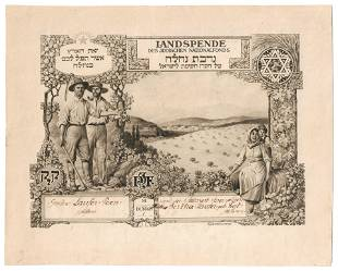 Land Donation JNF Document - Ranzenhofer, 1911