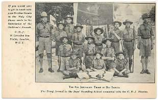 Postcard of Jerusalem Troops of Boy Scouts, Palestine
